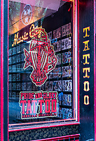 Tattoo shop, Nashville, Tennessee, USA.