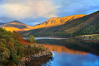SC - Prov. ARGYLL & BUTE<br /> Golden mountain reflection on Loch Creran (A828)<br /> <br /> Full size: 69,2 MB