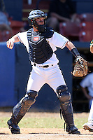 March 14, 2010:  Infielder/Catcher James Sheltrown of the Akron Zips vs. the Yale Bulldogs in a game at Chain of Lakes Park in Winter Haven, FL.  Photo By Mike Janes/Four Seam Images