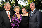 From left: Lynn and Marilyn Elliott with Karen and Bob Aspromonte at the Bayou Bend Garden Party Sunday April 25,2010.. (Dave Rossman Photo)