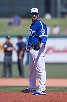 Jacob Rhame (35) of the Oklahoma City Dodgers on the mound during a game against the Iowa Cubs at Chickasaw Bricktown Ballpark on April 9, 2016 in Oklahoma City, Oklahoma.  Oklahoma City defeated Iowa 12-1 (William Purnell/Four Seam Images)