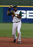 July 30, 2005:  Second Baseman Jose Morban of the Buffalo Bisons during a game at Dunn Tire Park in Buffalo, NY.  Buffalo is the International League Triple-A affiliate of the Cleveland Indians.  Photo by:  Mike Janes/Four Seam Images