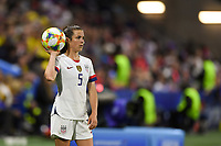 LE HAVRE, FRANCE - JUNE 20: Kelley O'Hara #5 during a 2019 FIFA Women's World Cup France group F match between the United States and Sweden at Stade Océane on June 20, 2019 in Le Havre, France.