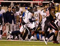 Zach Maynard of California runs the ball during the game against Utah at Rice-Eccles Stadium in Salt Lake City, Utah on October 27th, 2012.   Utah Utes defeated California, 49-27.