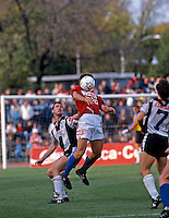 Adelaide City won 2-0 over the Knights<br /> Grand Final - Adelaide City vs Melbourne Knights<br /> 1992 Coca Cola National Soccer League<br /> May 3rd 1992 / Olympic Park - Melbourne<br /> © Sport the library / Ian Kenins