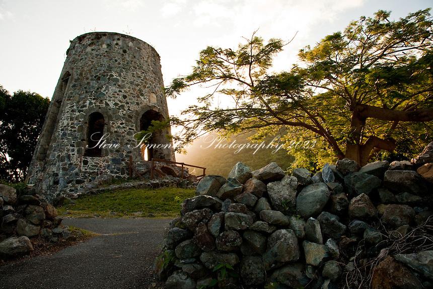 Sunrise at Annaberg Sugar Plantation Ruins<br /> Virgin Islands National Park<br /> St. John<br /> U.S. Virgin Islands
