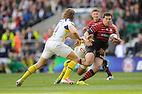 Schalk Brits of Saracens in action during the Heineken Cup semi-final match between Saracens and ASM Clermont Auvergne at Twickenham Stadium on Saturday 26th April 2014 (Photo by Rob Munro)