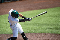 Wright State Raiders third baseman Justin McConnell (7) at bat against the Duke Blue Devils in NCAA Regional play on Robert M. Lindsay Field at Lindsey Nelson Stadium on June 5, 2021, in Knoxville, Tennessee. (Danny Parker/Four Seam Images)