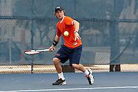 SAN ANTONIO , TX - JANUARY 31, 2010: The Laredo Community College Palominos vs. The University of Texas At San Antonio Roadrunners Men's Tennis at the UTSA Tennis Center. (Photo by Jeff Huehn)