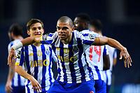 14th March 2021; Dragao Stadium, Porto, Portugal; Portuguese Championship 2020/2021, FC Porto versus Pacos de Ferreira; Pepe of FC Porto celebrates his goal in the 77th minute 1-0