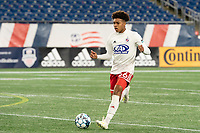 FOXBOROUGH, MA - OCTOBER 16: Justin Che #46 of North Texas SC during a game between North Texas SC and New England Revolution II at Gillette Stadium on October 16, 2020 in Foxborough, Massachusetts.
