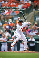 Baltimore Orioles Anthony Santander (54) at bat during a Spring Training exhibition game against the Dominican Republic on March 7, 2017 at Ed Smith Stadium in Sarasota, Florida.  Baltimore defeated the Dominican Republic 5-4.  (Mike Janes/Four Seam Images)