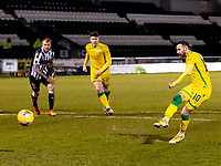 z2nd February 2021; St Mirren Park, Paisley, Renfrewshire, Scotland; Scottish Premiership Football, St Mirren versus Hibernian; Martin Boyle of Hibernian scores second goal from the penalty spot for 0-2 in the 71st minute