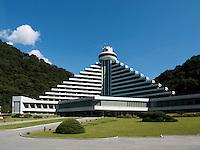 Hyangsan Hotel in den Myohyang-Bergen, Nordkorea, Asien