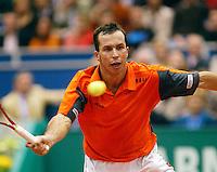 26-2-06, Netherlands, tennis, Rotterdam, Stepanek in action against C.Rochus