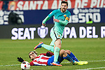 FC Barcelona's forward Leo Messi and Atletico de Madrid's forward Antoine Griezmann competes for the ball with  during the match of Copa del Rey between Atletico de  Madrid and Futbol Club Barcelona at Vicente Calderon Stadium in Madrid, Spain. February 1st 2017. (ALTERPHOTOS/Rodrigo Jimenez)