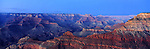 America Panorama - Grand Canyon at Dusk. Arizona, America.<br /> <br /> Image taken on large format panoramic 6cm x 17cm transparency. Available for licencing and printing. email us at contact@widescenes.com for pricing <br /> <br /> WARNING: Image Protected with PIXSY