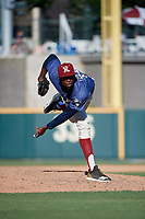 Frisco RoughRiders pitcher James Jones (20) during a Texas League game against the Amarillo Sod Poodles on May 19, 2019 at Dr Pepper Ballpark in Frisco, Texas.  (Mike Augustin/Four Seam Images)