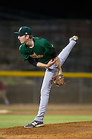 Savannah Sand Gnats relief pitcher Jimmy Duff (25) follows through on his delivery against the Hickory Crawdads at L.P. Frans Stadium on June 15, 2015 in Hickory, North Carolina.  The Crawdads defeated the Sand Gnats 4-1.  (Brian Westerholt/Four Seam Images)