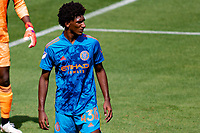 LOS ANGELES, CA - MAY 29: Talles Magno #43 of NYCFC during a game between New York City FC and Los Angeles FC at Banc of California Stadium on May 29, 2021 in Los Angeles, California.