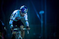 CX World Champion Wout Van Aert (BEL/Cibel-Cebon) in the sandbox<br /> <br /> men's race<br /> 44th Superprestige Diegem (BEL) 2018<br /> ©kramon