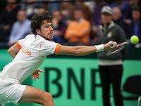 10-02-12, Netherlands,Tennis, Den Bosch, Daviscup Netherlands-Finland, Loting, Robin Haase