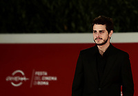 "Italian actor Andrea Arcangeli poses on the red carpet for the screening of the film ""Romulus"" during the 15th Rome Film Festival (Festa del Cinema di Roma) at the Auditorium Parco della Musica in Rome on October 24, 2020.<br />