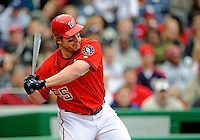 13 April 2008: Washington Nationals' outfielder Austin Kearns in action against the Atlanta Braves at Nationals Park, in Washington, DC. The Nationals ended their 9-game losing streak by defeating the Braves 5-4 in the last game of their 3-game series...Mandatory Photo Credit: Ed Wolfstein Photo