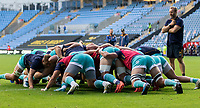 21st August 2020; Ricoh Arena, Coventry, West Midlands, England; English Gallagher Premiership Rugby, Wasps versus Worcester Warriors; The Worcester Warriors practice scrummage before the Gallagher Premiership Rugby match between Wasps and Worcester Warriors at Ricoh Arena on August 21st 2020 in Coventry England