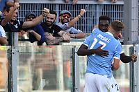 Felipe Caicedo of SS Lazio celebrates with Ciro Immobile of SS Lazio after scoring the goal of 3-0 for his side<br /> Roma 29-9-2019 Stadio Olimpico <br /> Football Serie A 2019/2020 <br /> SS Lazio - Genoa CFC <br /> Foto Andrea Staccioli / Insidefoto