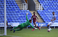 21st July 2021; Madejski Stadium, Reading, Berkshire, England; Pre Season Friendly Football, Reading versus West Ham United; Ademipo Odubeko of West Ham plays the ball across goal for Conor Coventry of West Ham to score