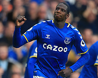 25th September 2021; Goodison Park, Liverpool, England; Premier League football, Everton versus Norwich; Abdoulaye Doucoure of Everton celebrates after scoring his team's second goal after 77 minutes