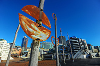 Civic Square, Wellington CBD, at 8.30am, Wednesday during Level 4 lockdown for the COVID-19 pandemic in Wellington, New Zealand on Thursday, 19 August 2021.