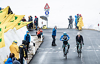 coming over the Passo Giau, prepping for the descent<br /> <br /> due to the bad weather conditions the stage was shortened (on the raceday) to 153km and the Passo Giau became this years Cima Coppi (highest point of the Giro).<br /> <br /> 104th Giro d'Italia 2021 (2.UWT)<br /> Stage 16 from Sacile to Cortina d'Ampezzo (shortened from 212km to 153km)<br /> <br /> ©kramon