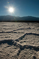 Badwater Basin, Death Valley NP, 282 feet below sea level.