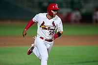 Palm Beach Cardinals Carlos Soto (35) advances to third on a base hit during a game against the Daytona Tortugas on May 4, 2021 at Roger Dean Chevrolet Stadium in Jupiter, Florida.  (Mike Janes/Four Seam Images)