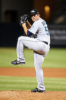 Peoria Javelinas pitcher Logan Bawcom #56, of the Seattle Mariners organization, during an Arizona Fall League game against the Salt River Rafters at the Salt River Fields at Talking Stick on October 18, 2012 in Scottsdale, Arizona.  Peoria defeated Salt River 3-1.  (Mike Janes/Four Seam Images via AP Images)