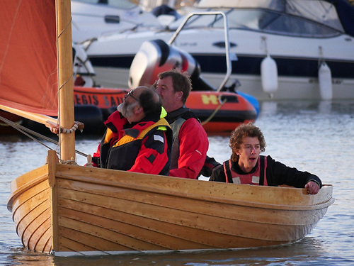 A Lyme Regis Academy built Droleen from Donegal will be sailing in Dun Laoghaire Harbour for the Irish Times Challenge Cup