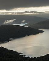 Sunset over Lake Waikaremoana, Te Urewera, Hawke's Bay, North Island, New Zealand, NZ