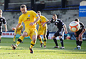 MARK ROBERTS SCORES AYR'S FIRST FROM THE SPOT