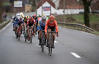Matteo Trentin (ITA/CCC) setting the pace while descending<br /> <br /> 75th Omloop Het Nieuwsblad 2020 (1.UWT)<br /> Gent to Ninove (BEL): 200km<br /> <br /> ©kramon