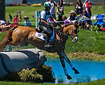 April 26, 2014: HOUSTON, ridden by Daniel Clasing (USA), competes in the Cross County Test at the Rolex Kentucky 3-Day Event at the Kentucky Horse Park in Lexington, KY Scott Serio/ESW/CSM