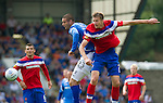St Johnstone v Rangers... 30.07.11   SPL Week 2.Dorin Goian and Marcus Haber.Picture by Graeme Hart..Copyright Perthshire Picture Agency.Tel: 01738 623350  Mobile: 07990 594431