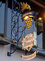 Hotel Traube, Rüdesheim, Hessen, Deutschland, Europa<br /> Hotel Traube, Rüdesheim, Hesse, Germany, Europe