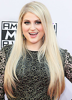 LOS ANGELES, CA, USA - NOVEMBER 23: Meghan Trainor arrives at the 2014 American Music Awards held at Nokia Theatre L.A. Live on November 23, 2014 in Los Angeles, California, United States. (Photo by Xavier Collin/Celebrity Monitor)