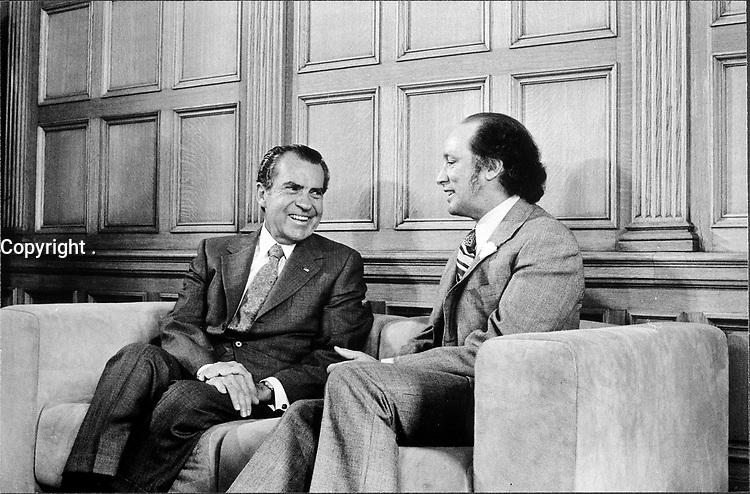 Richard M. Nixon, Pierre Elliott Trudeau, 14 April 1972, Washington DC, USA<br /> <br /> PHOTO : Oliver F. Atkins, White House