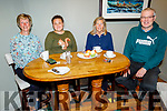 Tralee Chain Gang members Maura O'Sullivan, Gemma Loughwed, Nuala Finnegan and Dave Elton, enjoying the coffee morning in the Meadowlands Hotel for the Kerry Hospice on Thursday.