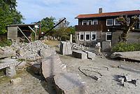 Steinbruchmuseum Moseløkke in Sandvig auf der Insel Bornholm, Dänemark, Europa<br /> Quarry Museum Moseløkke in Sandvig, Isle of Bornholm Denmark