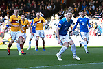 Motherwell v St Johnstone….30.03.19   Fir Park   SPFL<br />Liam Craig reacts after missing his penalty<br />Picture by Graeme Hart. <br />Copyright Perthshire Picture Agency<br />Tel: 01738 623350  Mobile: 07990 594431