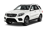 2018 Mercedes Benz GLE AMG-43 5 Door SUV Angular Front stock photos of front three quarter view